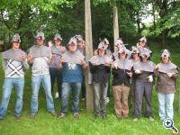 Studenten der Universität Koblenz in Wolfskostümen